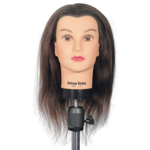 "Celebrity Deluxe Debra Human Hair Manikin 18""-20"" Brown Human Hair (DLX804)"