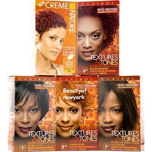 Clairol Textures & Tones Haircolor Kit / Silken Black - 1B