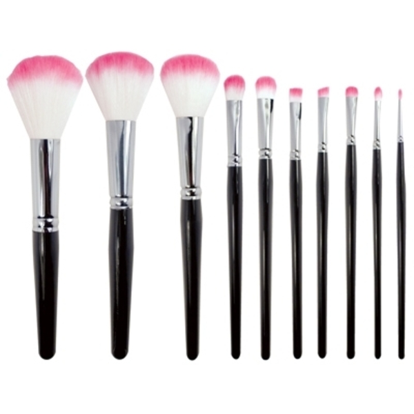 FantaSea - 10 Piece Synthetic Cosmetic Brush Set (FSC423)