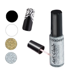 Nail Art Paint - Black 6 Pack of 0.25 oz. Bottles (05C002-6)