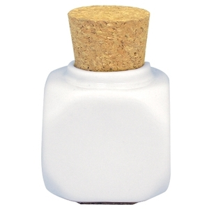 Porcelain Jar With Cork - White (DL-C523)