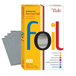 "Embossed Pre-Cut Foil 400 Count 5""X8"" Silver (EF400-SL)"