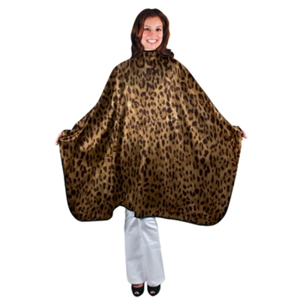 "Leopard Nylon Styling Cape 44"" x 58"" (4046)"