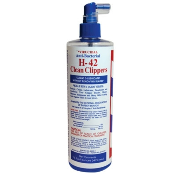 Virucidal Anti-Bacterial H-42 Clean Clippers - Spray Bottle 16 oz. (H-42-11994)