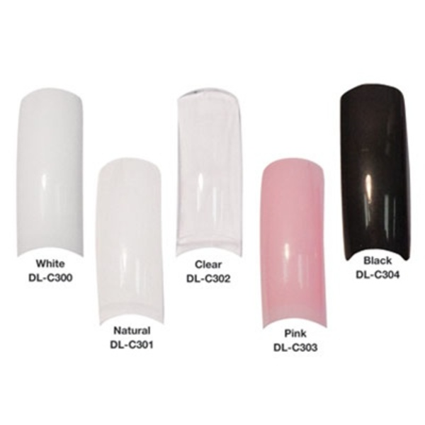Nail Tips - Clear 250 Tips (DL-C302)