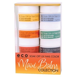 Maui Baby Collection Soak Off UV Nail Color Kit (ST-ECO1248)
