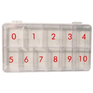 Nail Tip Box - Clear (DL-C214)