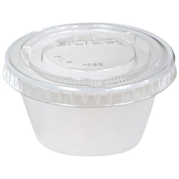 Disposable Mixing Cups with Lids - 2 oz. 250 Pack (SOLO-2)