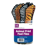 Animal Print Foot Files 24 Sets in Counter Display (DL-C229)