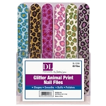 Glitter Animal Print Nail Files 48 Pieces (DL-C236)