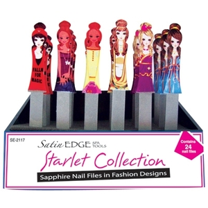 Starlet Collection Sapphire Nail Files 24 Pieces (SE-2117)