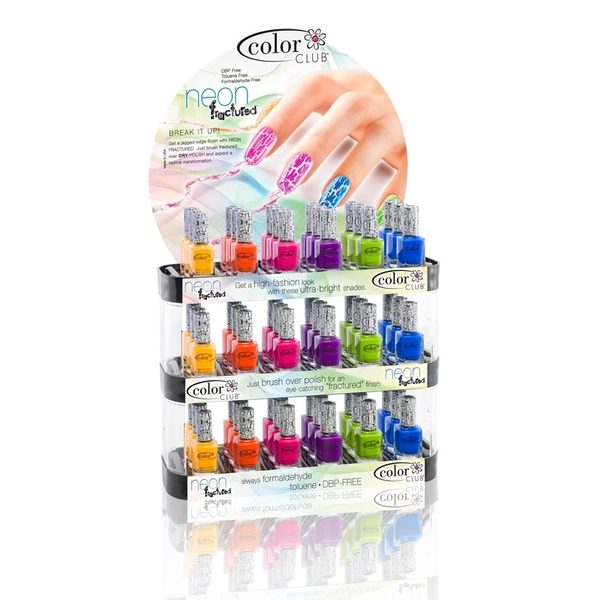 Neon Fractured Polish Display 54 Polishes (05DNF54)
