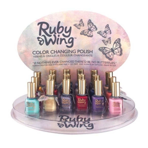 Ruby Wing Color-Changing Polish 18 Piece Display (RW191001)