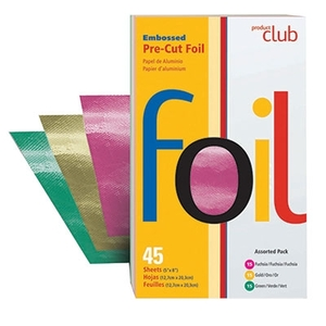 "5"" x 8"" Embossed Foil Pre-cut Sheets - Assorted Colors 45 Count (EF45-AP)"