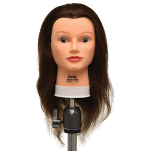 "Emily Junior Size 100% Human Hair Manikin - 17""-19"" Brown Hair (759)"