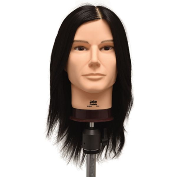 "Jake Protein Fiber Hair Budget Manikin - 18"" Brown Hair (F-755)"