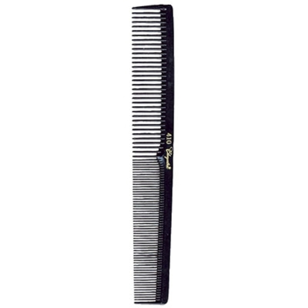 "7"" FlatSquare Back Cutting Comb - Black (KC410)"