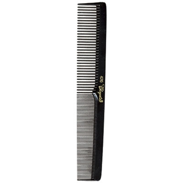 "7"" FlatSquare Back Larger Cutting Comb - Black (KC420)"