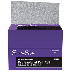 "Embossed Professional Foil Roll 5"" X 250 ft. (SNS608SLV)"