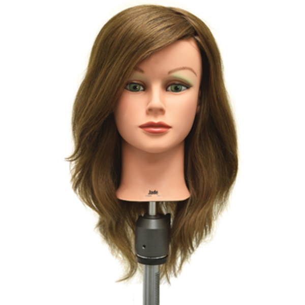 "Jade 100% Vigin European Human Hair Manikin - 20""-22"" Light Brown Hair (758)"