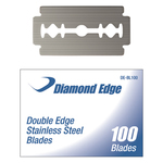 Double Edge Stainless Steel Blades 100 Pack (DE-BL-100)