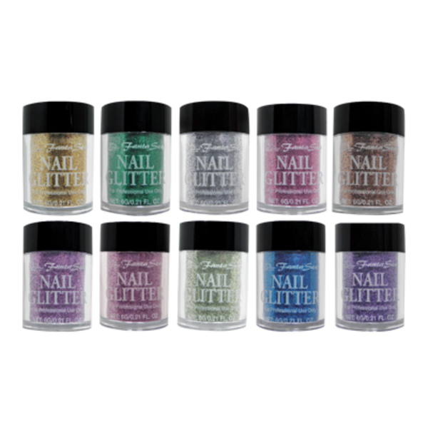 10 Piece Nail Art Glitter Set (FSC-55)
