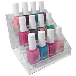 3-Tier Nail Polish Display Rack - Holds 12 Bottles (DL-C344)