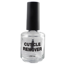 Empty Cuticle Remover Bottle - Clear Glass - 0.5 oz. Case of 360 Bottles (DL-C374)