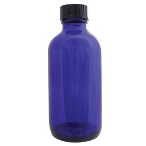 Cobalt Blue Glass Bottle with Cap - 4 oz. (DL-C367)