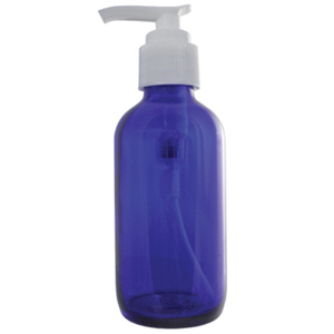 Cobalt Blue Glass Bottle with Pump - 4 oz. (DL-C368)