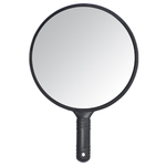 "Round Hand Held Mirror - Black 14-58""L x 10""W (SNS-51)"