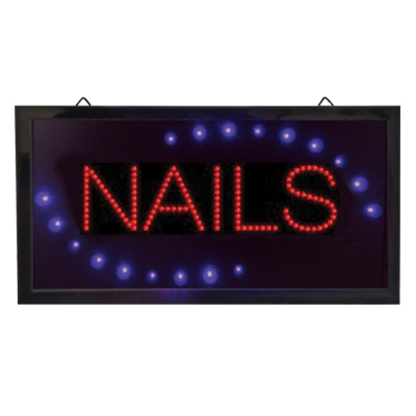 "Nails LED Sign - Grab Customer's Attention 9-78""H x 19""W x 1-18""D (FSC-896)"