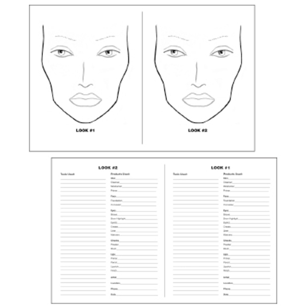 Make-up Face Chart (FSC678)