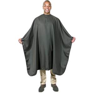 "Black Pinstripe Barber Cape 54"" x 63"" (4096)"