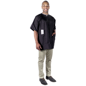 Crinkle Nylon Barber Jacket - Large (4104)
