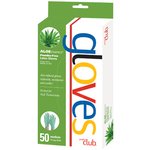 Aloe Essence Powder-Free Latex Gloves - Medium Box of 50 (ALG-50M)