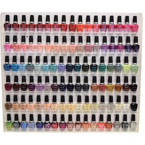 "Deluxe Nail Polish Wall Rack - 150 Bottles 24""H x 27.5""W x 1.75""D (DL-C413)"