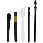 Cosmetic Brushes & Applicators - 6 Mascara Wands + 6 Lip Brushes + 6 Eyeshadow Brushes + 6 Double-Sided Eyeshadow Applicators + 6 Plastic Spatulas 30 Pieces (FSC538)