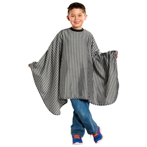 "Kids Striped Barber Cape 50"" x 38"" (4130)"