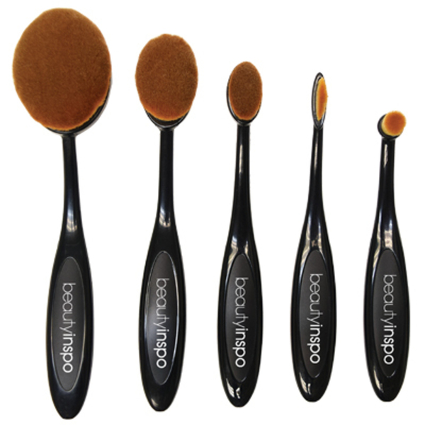 Oval Paddle Makeup Brush Set 5 Pieces (BI-OBS5)