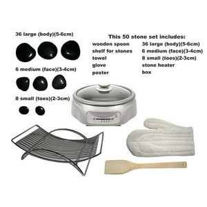Spa Masters Hot Stone Massage Set (BB-101)