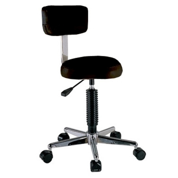 Spa Masters Round Stool with Back (SH-7085)