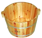 "Wood Foot Soak Tub 15"" Diameter (FY-B-002)"