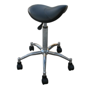 HBNY Dennis Small Saddle Stool Black (ST03)
