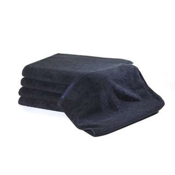 Bleachsafe Standard Salon Size Towel Black 15""