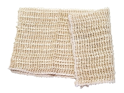 "Sisal Washcloth 12"" x 12"""