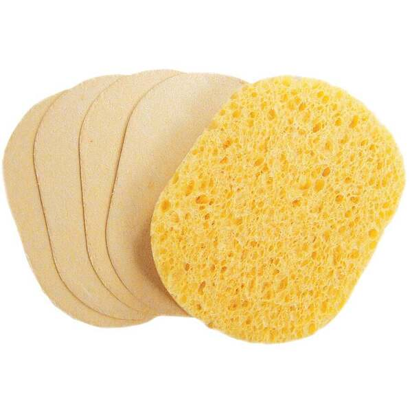 Oval Compressed Sponge Natural 24 Pack