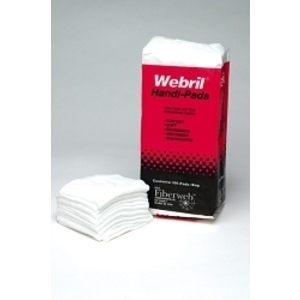 "WEBRIL Cotton Pads 4"" x 4"" 100 Pack"