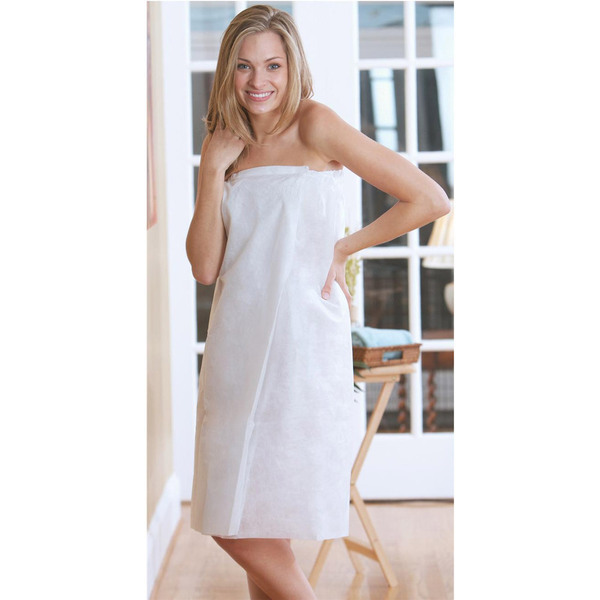 Canyon Rose Disposable Spa Wrap White L-XL 10
