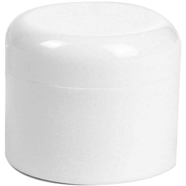 15 oz. White Jar with Cap 25 Pack